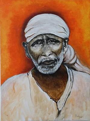 Shirdi Sai Baba Painting - Shirdi Sai by Padma Prasad