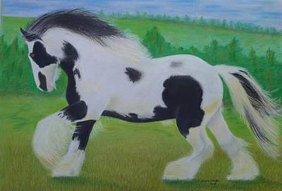 Painting - Shire Horse by David Hawkes