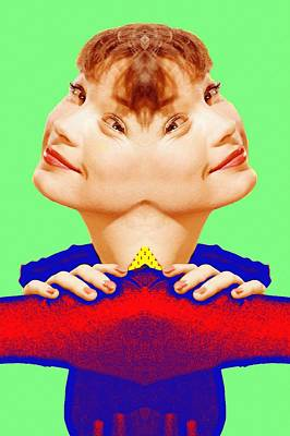 Smiling Mixed Media - Shirley Maclaine Double by Art Cinema Gallery