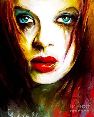 Shirley Digital Art - Shirley Manson by John Lowther
