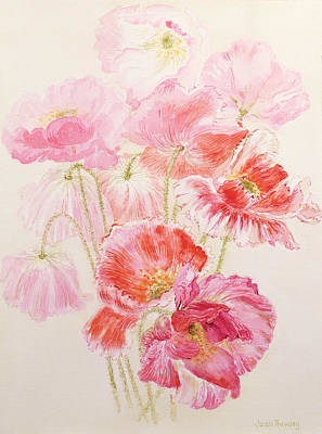 Shirley Painting - Shirley Poppies by Joan Thewsey