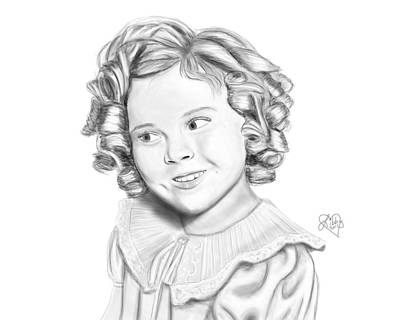 Shirley Temple Digital Art - Shirley Temple by Elizabeth Fortune