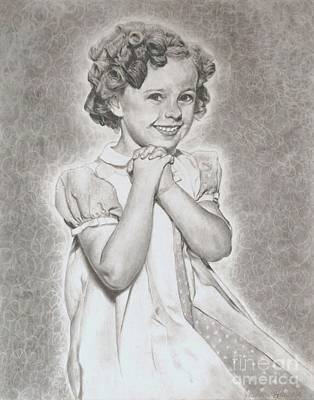 Shirley Temple Drawing - Shirley Temple  by Jessica Hallberg