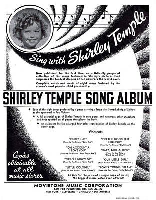 Shirley Temple Photograph - Shirley Temple Song Album by Mel Thompson