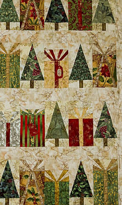 Photograph - Shirley's Holiday Quilt by E Faithe Lester