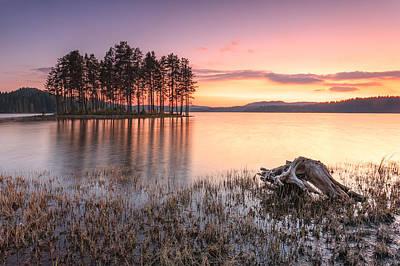 Islands Photograph - Shiroka Polyana Lake  by Evgeni Dinev