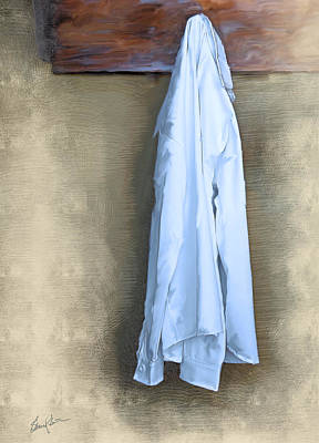 Painting - Shirt Hanging On A Wall by Steven Lester