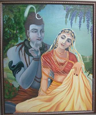 Shiv And Parvati Original by Alka  Malik