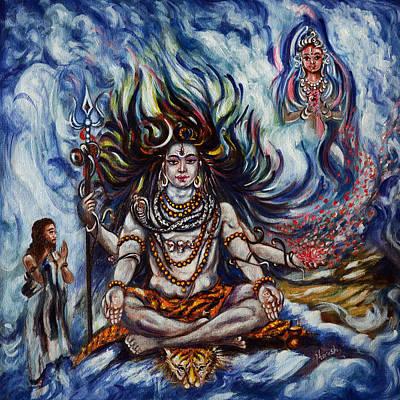 Nataraja Painting - Shiva - Ganga - Harsh Malik by Harsh Malik