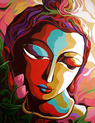 Indian Contemporary Artist Painting - Shiva 1 by Dhananjay Mukherjee