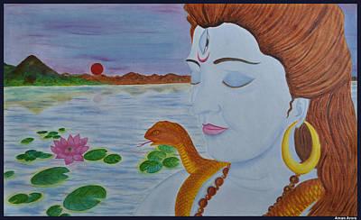 Shiva Original by Bliss Of Art