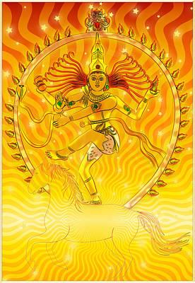 Shiva Nataraja Iv Art Print by Harald Dastis