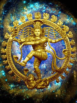 Parvati Digital Art - Shiva The Cosmic Dancer by Svahha Devi