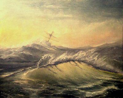 Shivering Beauty Of Storm Art Print by Mikhail Savchenko
