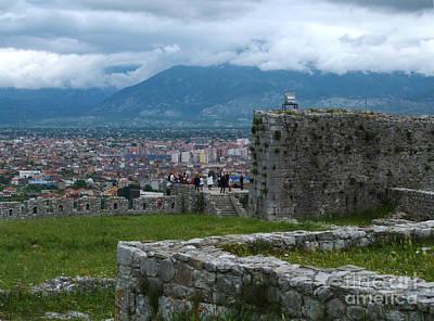 Shkoder From Rozafa Castle - Albania Art Print