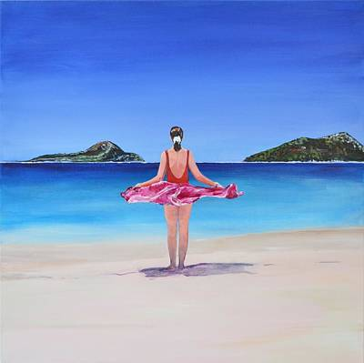 New South Wales Painting - Shoal Bay Beach by Mike Paget