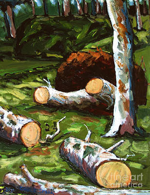 Sycamore Painting - Shock And Awe by Charlie Spear