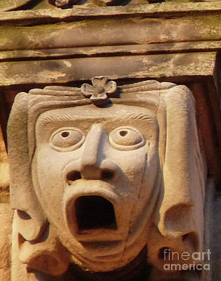 Carving Photograph - Shocked Gargoyle by Deborah Smolinske