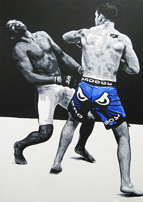 Knockout Painting - Shocking The World by Geo Thomson