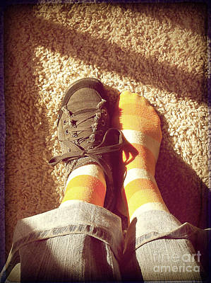 Photograph - Shoe And Stripes by Meghan at FireBonnet Art