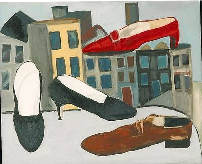 Painting - Shoe City by Carmela Cattuti