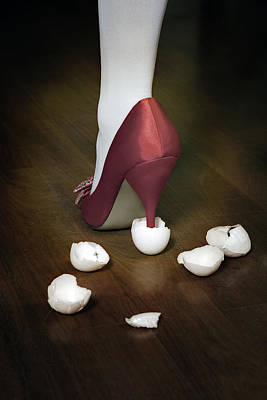 Sexy Feet Photograph - Shoe In Eggshells by Joana Kruse