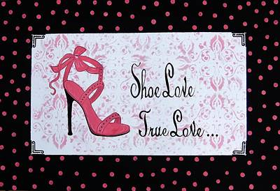 Painting - Shoe Love True Love French Country by Cindy Micklos