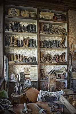 Shoe Repair Photograph - Shoe Repair Shop In 1880 Town by Randall Nyhof