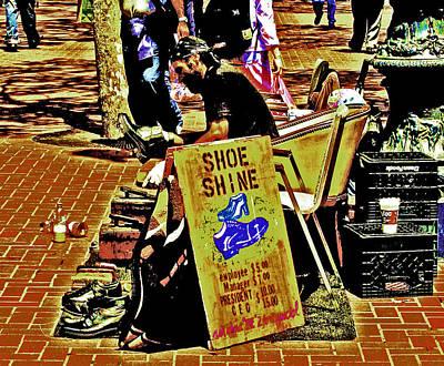 Digital Art - Shoe Shine by Joseph Coulombe