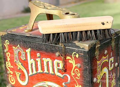 Photograph - Shoe Shine Kit W Brush by Pamela Walrath