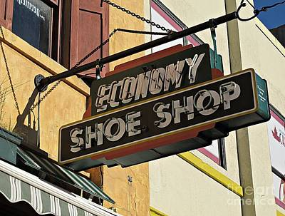 Photograph - Shoe Shop Sign by Ethna Gillespie