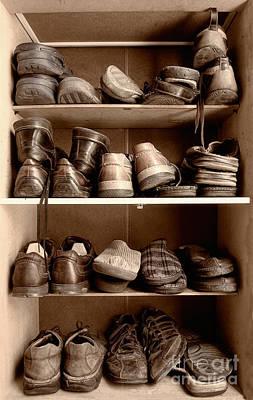 Tying Shoe Photograph - Shoebox by Sinisa Botas