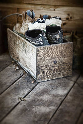 Tennis Shoes Photograph - Shoebox Still Life by Tom Mc Nemar