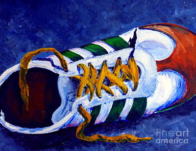 Softball Painting - Shoeless by Jackie Carpenter