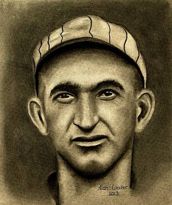 Chicago White Sox Drawing - Shoeless Joe by Alan Conder