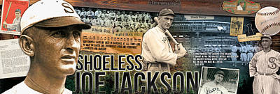 Shoeless Joe Jackson Panoramic Art Print by Retro Images Archive