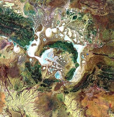 Shoemaker Crater Art Print