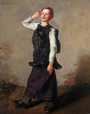 Shoemaker Painting - Shoemaker's Apprentice by Wilhelm Truebner