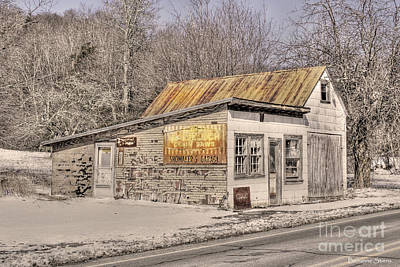 Rusty Tin Roof Photograph - Shoemaker's Garage by Benanne Stiens