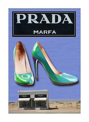 Abstract Prada Marfa Shoe Art Far West Texas Art Print