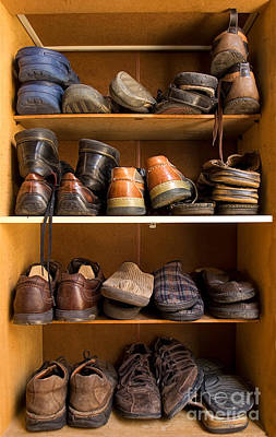 Tying Shoe Photograph - Shoes Box by Sinisa Botas