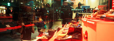 Shoes Displayed In A Store Window Art Print by Panoramic Images