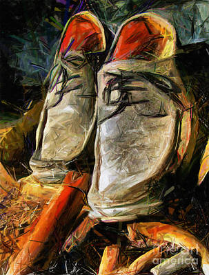 Romania Drawing - Shoes - Drawing by Daliana Pacuraru