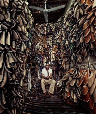 Repeat Photograph - Shoes Maker by Mahmoud Fayed