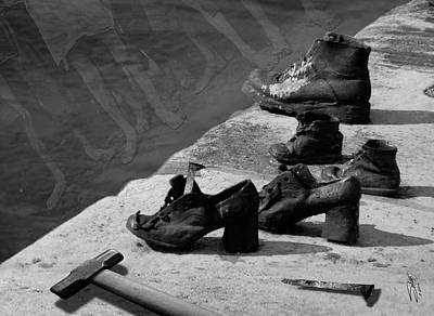 Photograph - Shoes By The Danube  by IM Spadecaller