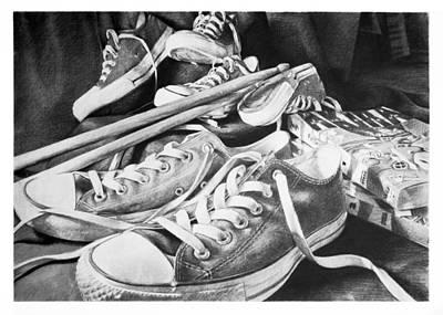 Shoes Sticks And Comics Original
