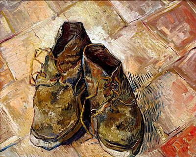Shoe Laces Digital Art - Shoes by Vincent van Gogh