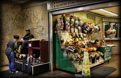 Flowers On Line Photograph - Shoeshine On A Sunday by Lee Dos Santos