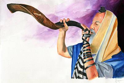 Shofar Painting - Shofar II by Dawnstarstudios