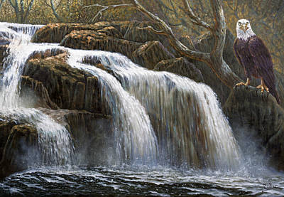 Apache Painting - Shohola Falls by Gregory Perillo